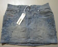 Diesel Goshy Skirt Women's Size 25 Denim Stars NEW $228 NWT Blue Jeans Italy