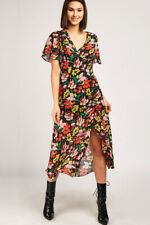 TOPSHOP Vintage Floral Chiffon Midi Dress in Multicoloured Sizes 6 to 16