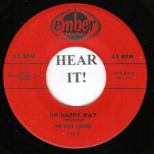 The Five Satins DOO WOP 45 (Ember 1014) Oh Happy Day /Our Love Is Forever  MINT-