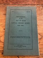 proceedings of the isle of wight natural history society for 1922
