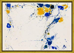 Framed Sam Francis Untitled 11 Giclee Canvas Print Paintings Poster Reproduction