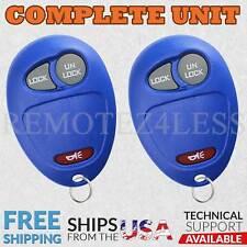 2 for 2006 2007 2008 2009 2010 Hummer H3 Keyless Entry Remote Car Key Fob Blue
