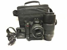 Nikon D5000 12.3MP SLR 18-55mm F/3.5-5.6 - 55-300mm 1:45-5.6G LENS NO RESERVE