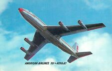 AMERICAN AIRLINES 707 ASTROJET VINTAGE POSTCARD VIEW