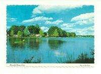 BEAUTIFUL SERENE LAKE, COWANSVILLE, QUEBEC, CANADA CHROME POSTCARD