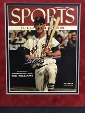 TED WILLIAMS SIGNED 1955 SPORTS ILLUSTRATED COVER AUTOGRAPH AUTO RED SOX