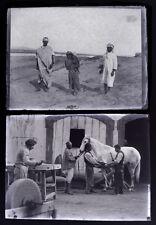 Photo reportage / 21 plaques de verre paysan Algérie machines vapeur pieds-noirs