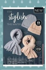 Avon Isabella Scarf and Hat Set ~ For Her In Light Blue
