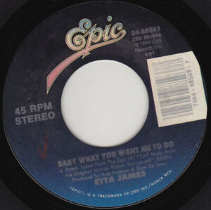 """ETTA JAMES - Baby What You Want Me To Do  7"""" 45"""