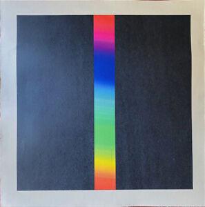 """Getulio Alviani """"Composizione Cromatica"""" cromolitografia 70x70 cm"""