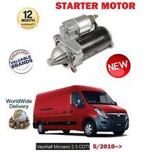 FOR VAUXHALL OPEL MOVANO 2.3 CDTI VAN BUS 2010-> NEW STARTER MOTOR
