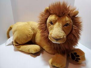 G2 - IKEA Lion Large Big DJUNGELSKOG Stuffed Animal Plush Soft Toy Sewn Eyes