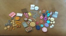 Lot of 50 1999 Barbie Bakery Cafe Food Plate Cups Register Pastry DOLLHOUSE SIZE