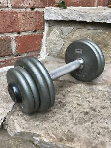 Ivanko Rare 1 Pro-Style 17 Lb Dumbbell Vintage Pancake Plates Nice Collectible