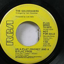 Pop Promo 45 The Golddiggers - An A-Flat Cricket And A B-Flat Frog / Nobody Else