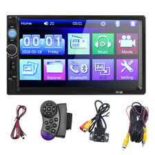 7 Inch Double 2 DIN Car MP5 Player Bluetooth Touch Screen Stereo Radio HD+Camera