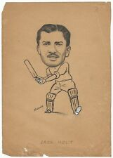 Cricket West Indies 1949 sketch by cartoonist R Booch India Ӝ SEE BOTTOM FAULTS