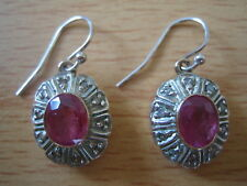 NO RESERVE Vintage Ruby & Rose Cut Diamond Earrings