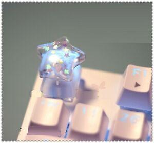 Sparkling Crystal Pentagram Transparent ESC Keycap Mechanical Keyboard R4