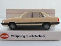Rietze/Audi Audi 200 Turbo Limousine (1983-1990) in creme 1:87/H0 NEU/OVP