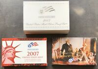 USA 2007 SILBER Proof Set San Francisco PP State Quarter President. Dol. 1c-$1