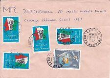 BD822) Ivory Coast 1982 nice cover to USA