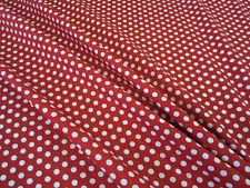 Stoff Meterware Baumwolle Punkte 9mm rot weiß gepunktet Tupfen Kleiderstoff
