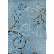 Ruggable 2-pc Washable Rug System: 5 Ft x 7 Ft RUGGABLE Slate Blue
