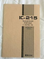 Icom IC-215 2 Meter FM Portable Transceiver Operating Manual