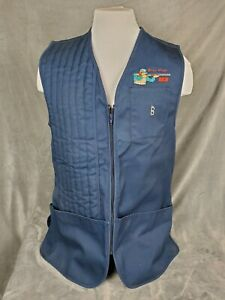 Vintage Bob Allen Embroided SK8 Blue Shooting Vest Size - LARGE NWT NEW