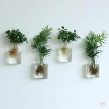 6x Wall Hanging Plant Flower Vase Terrarium Container Wedding Favours Clear