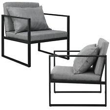 [en.casa] 2x Design Lehnstuhl Relaxsessel Esszimmer Stuhl Sessel Polstersessel