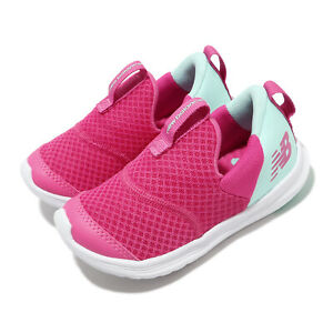 New Balance Step Wide Pink Blue White TD Toddler Infant Slip On Shoes IOSTEPBR W