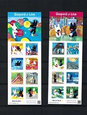 JAPAN 2019 Gaspard Lisa Mini S/S Sticker x 2  Stamps