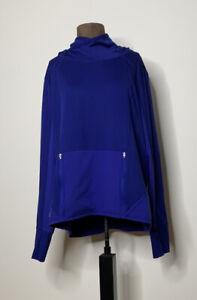 Athleta Womens Pullover Sweatshirt Purple Long Sleeve Pockets 1X