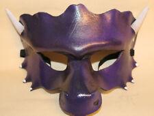 Purple Dragon Mask Handmade Leather Venetian Masquerade