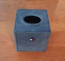 Vintage 90's  Style Tommy Hilfiger Ceramic Denim Tissue Box Cover Star Logo 2001