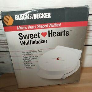 Black & Decker Sweet Hearts Waffle Baker G12 Vintage New In Box
