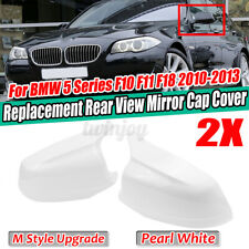 For BMW 5 Series F10 F11 F18 2010-2013 M Style Door Side Mirror Cover Caps  *//