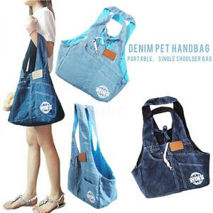 Pet Dog Cat Puppy Carrier Comfort Travel Tote Shoulder Jean Bag Sling Backpack