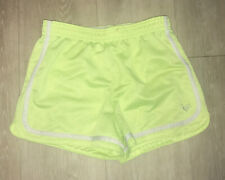 Justice Girls bright yellow mesh Dolphin Shorts Active - Size 12