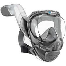 WildHorn Outfitters Safe Seaview 180° V2 Full Face Snorkel Mask, Large - Citrus