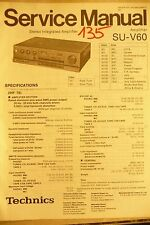 Service Manual for technics su-v60 Amplifier, Original