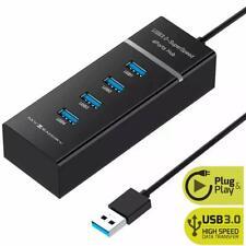 Multi 4 Port USB Hub 3.0 Betrieben Schnell Extender Adapter Splitter Laptop PC