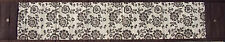 Unusual Hand Made Bali Table Runner -Brown & White Cedar Flower Pattern 2mt