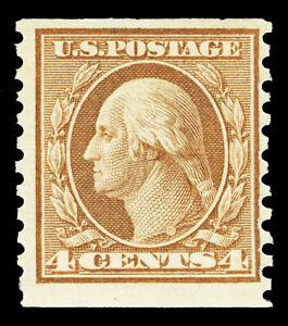 Scott 495 1917 4c Washington Coil Issue Mint Single Fine OG NH Cat $21.50