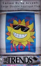 Sun Hot Hot Hot-House Flag-Double Sided Appliquéd-29�x42�