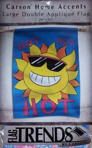 """Sun Hot Hot Hot-House Flag-Double Sided Appliquéd-29""""x42"""""""
