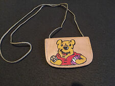 Pyrograved soft leather purse.  4.3 inch with a 17inch cord