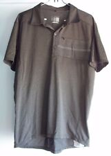 Shimano Polo Cycling Jersey Shirt Large Reflective Brown Zippered Pockets